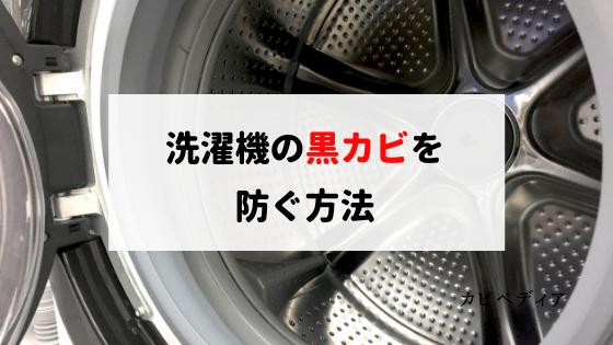 洗濯機の黒カビを取り除いて再発を防ぐには!?