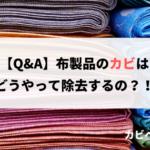 【Q&A】布製品に生えたカビはどうやって除去すれば良いの?!