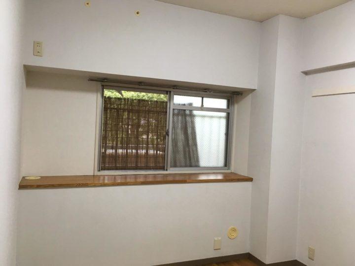 寝室、北側の部屋、日当たり、カビ取り後